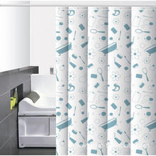 Waterproof Bathroom printed Shower Curtain Rod Lowes